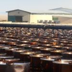 Bitumen Drums Filling at the Plant