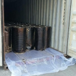 Bitumen Drums - Loading in Container